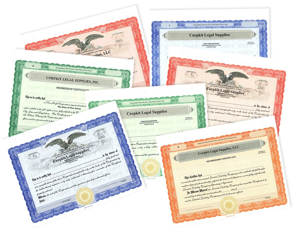 Amazon.com : 20 Green Corpkit Customized Membership Certificates ...