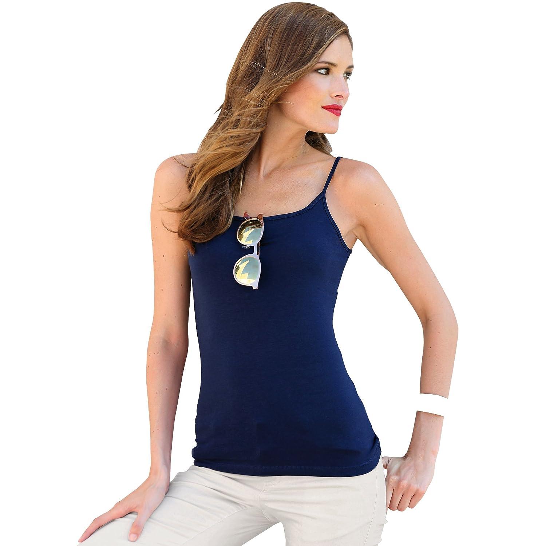 VENCA Camiseta Lisa Finos Tirantes espaguetti Mujer by Vencastyle: Amazon.es: Ropa y accesorios