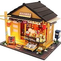Fsolis DIY Dollhouse Miniature Kit with Furniture, 3D Wooden Miniature House , Miniature Dolls House kit M914
