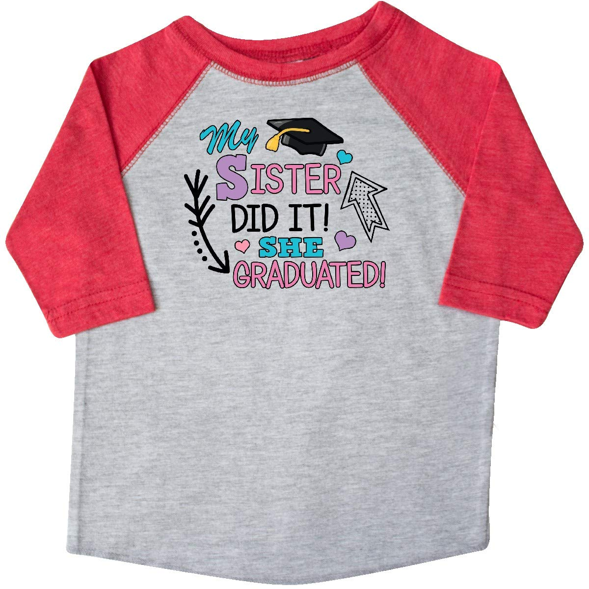 inktastic My Sister Graduated with Cap and Arrows Toddler T-Shirt