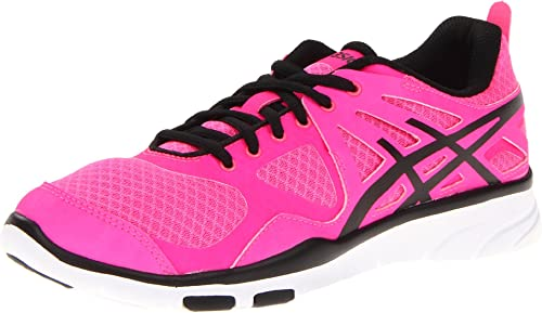 Asics Gel-Sustain TR - Zapatillas de running de sintético para mujer Hot Pink/Black/White, color rosa, talla 42: Amazon.es: Zapatos y complementos