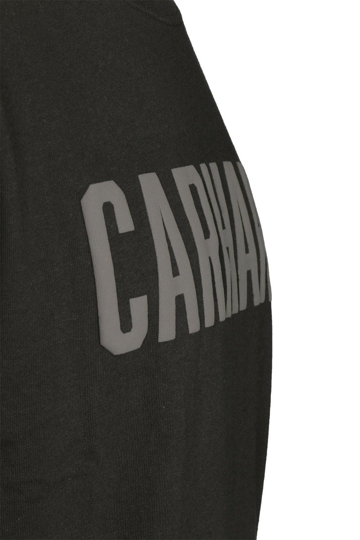 Abbigliamento da lavoro e divise Carhartt T-Shirt Core Logo T-Shirt S/S Fired Brick Heather-XL 101214 Abbigliamento specifico