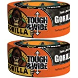 "Gorilla 6003001-2 Glue 6003001 Tough and Wide Tape (2 Pack), 2.88"" x 30 yd"