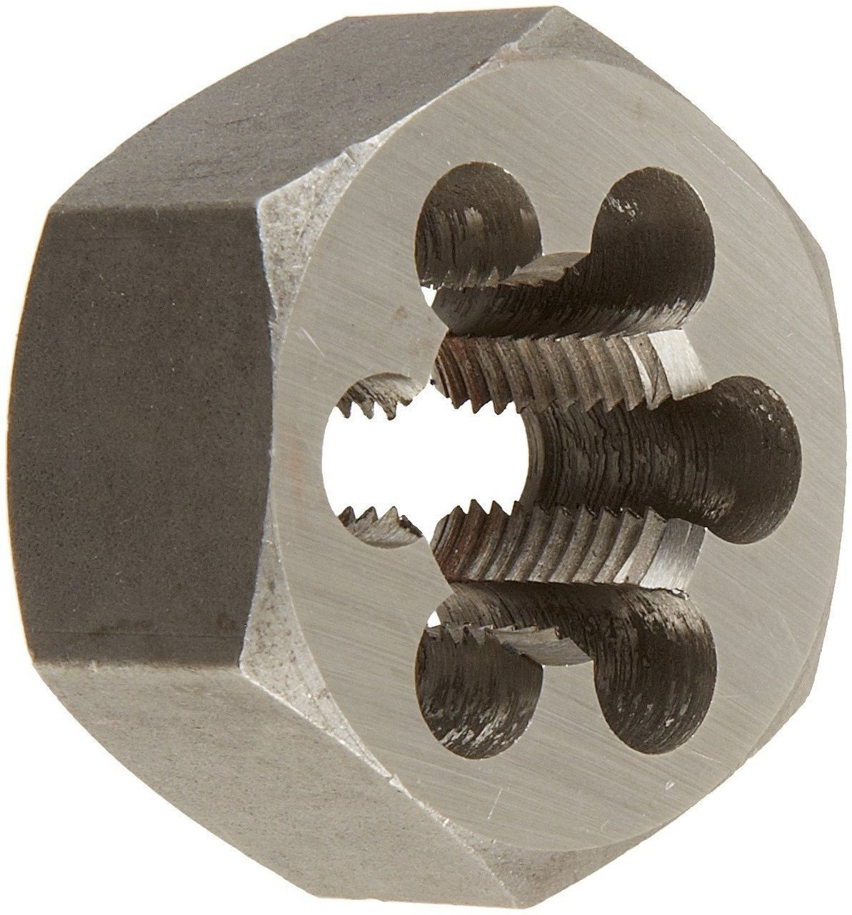 Drill America DWT High-Speed Steel Hex Threading Die (1/4' - 1-1/2'), Uncoated (Bright) Finish