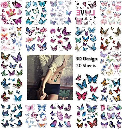 8-Piece Monarch Pop-Up Foil Butterflies 3D Stickers
