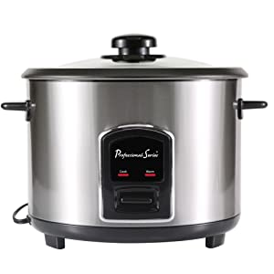 Continental Electric PS75068 Rice Cooker 6-cup Silver