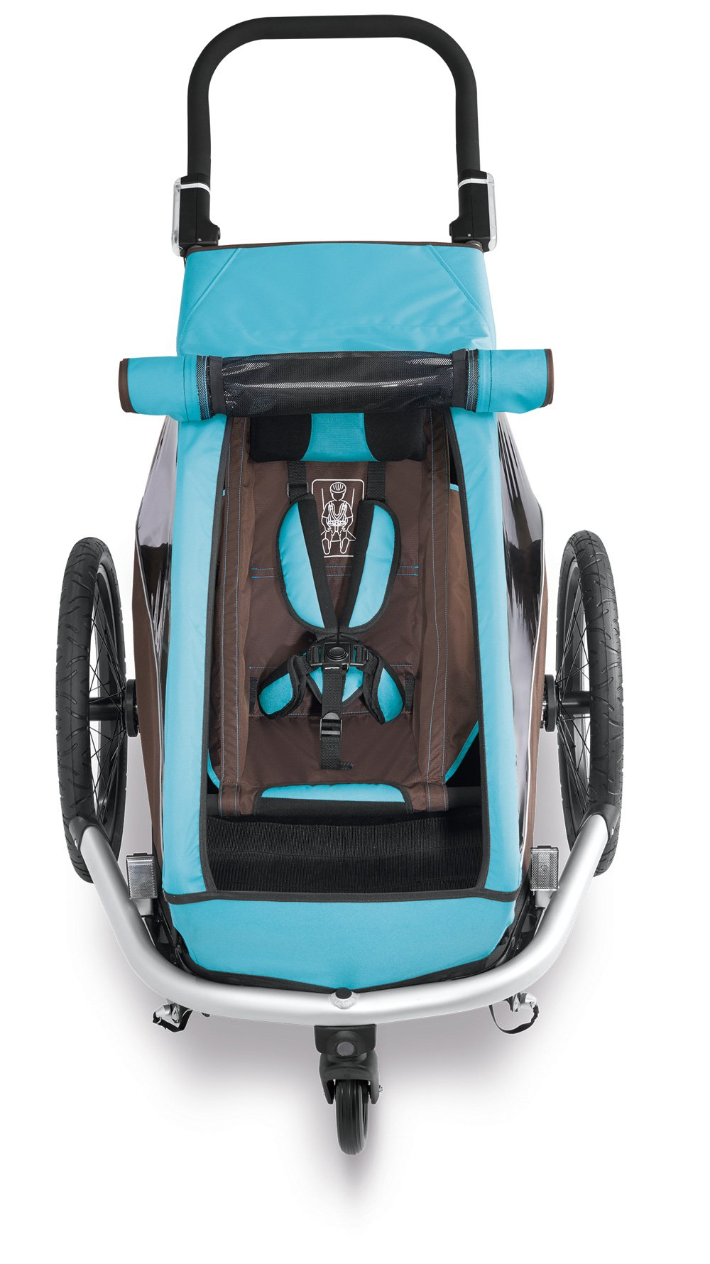 Croozer Kid Plus for 1 - 3 in 1 Single Child Trailer Sky Blue / Brown by Croozer (Image #4)