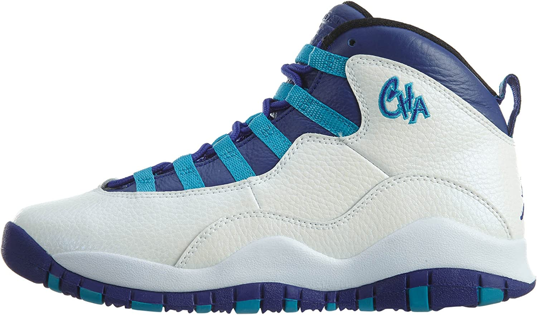 Jordan Boys 10 Retro Big Kids Style 3.5 White//Concord//Blue Lagoon//Black
