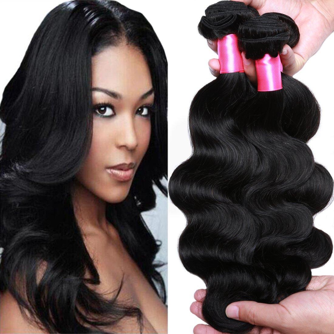 Amazon.com   Cranberry Hair Brazilian Virgin Hair Body Wave Cheap Remy  Human Hair 3 Bundles Weaves 100% Unprocessed Virgin Hair Bundles Extensions  14 16 18 ... 2d4d9ae53