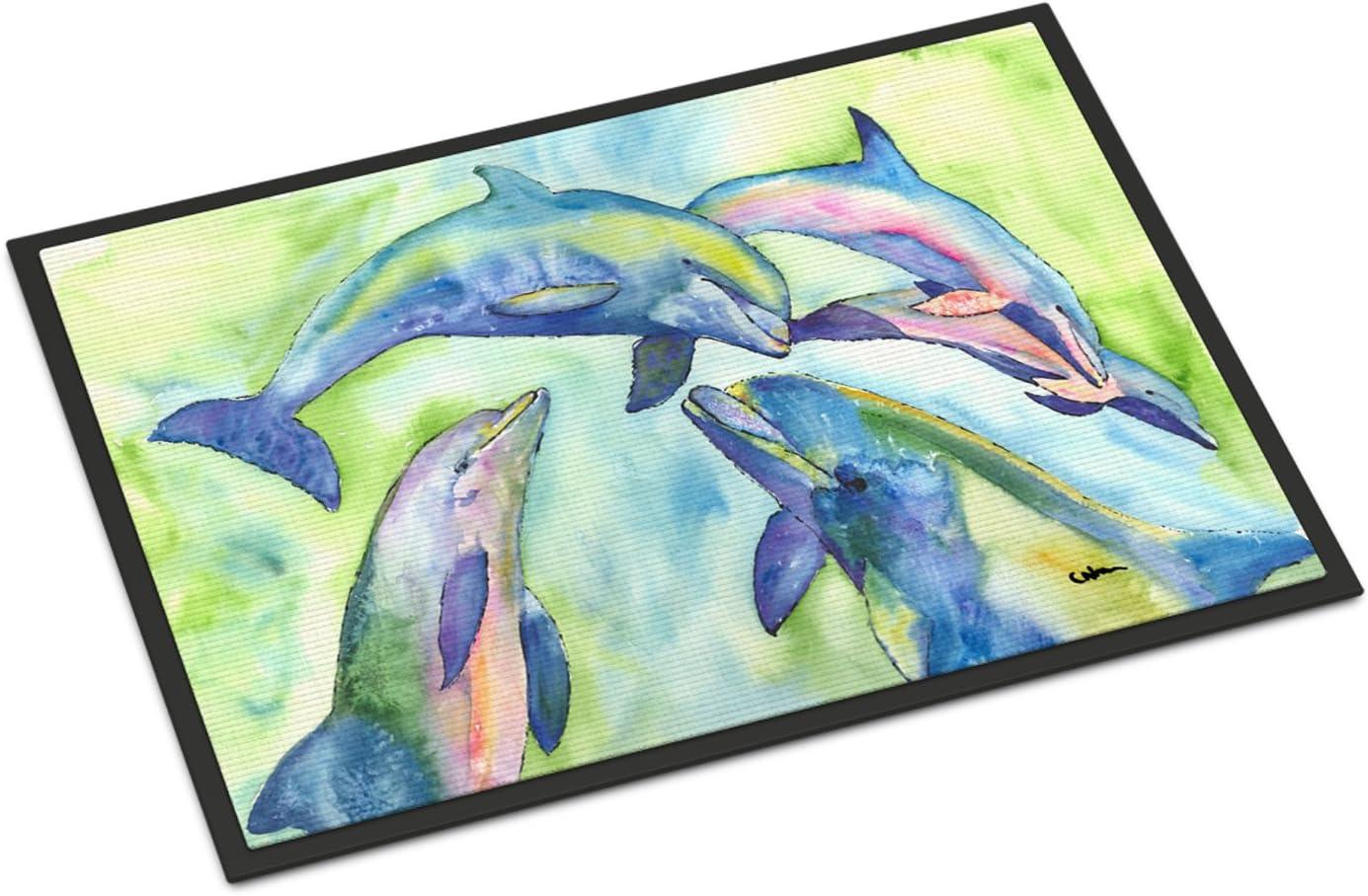Caroline s Treasures 8548MAT Dolphin Indoor or Outdoor Mat 18×27, 18H X 27W, Multicolor