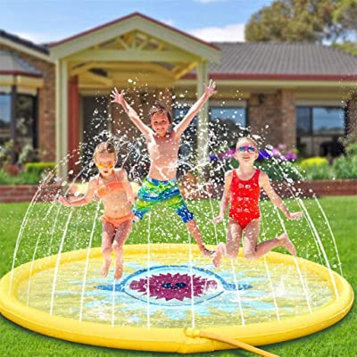 Simplylin Inflatable Splash Sprinkler Pad for Kids Toddlers Dogs, Kiddie Baby Pool 68Inch: Home & Kitchen