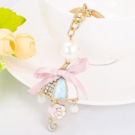 Amazon.com: ChY-3704 - Llavero con diseño de flores y perlas ...