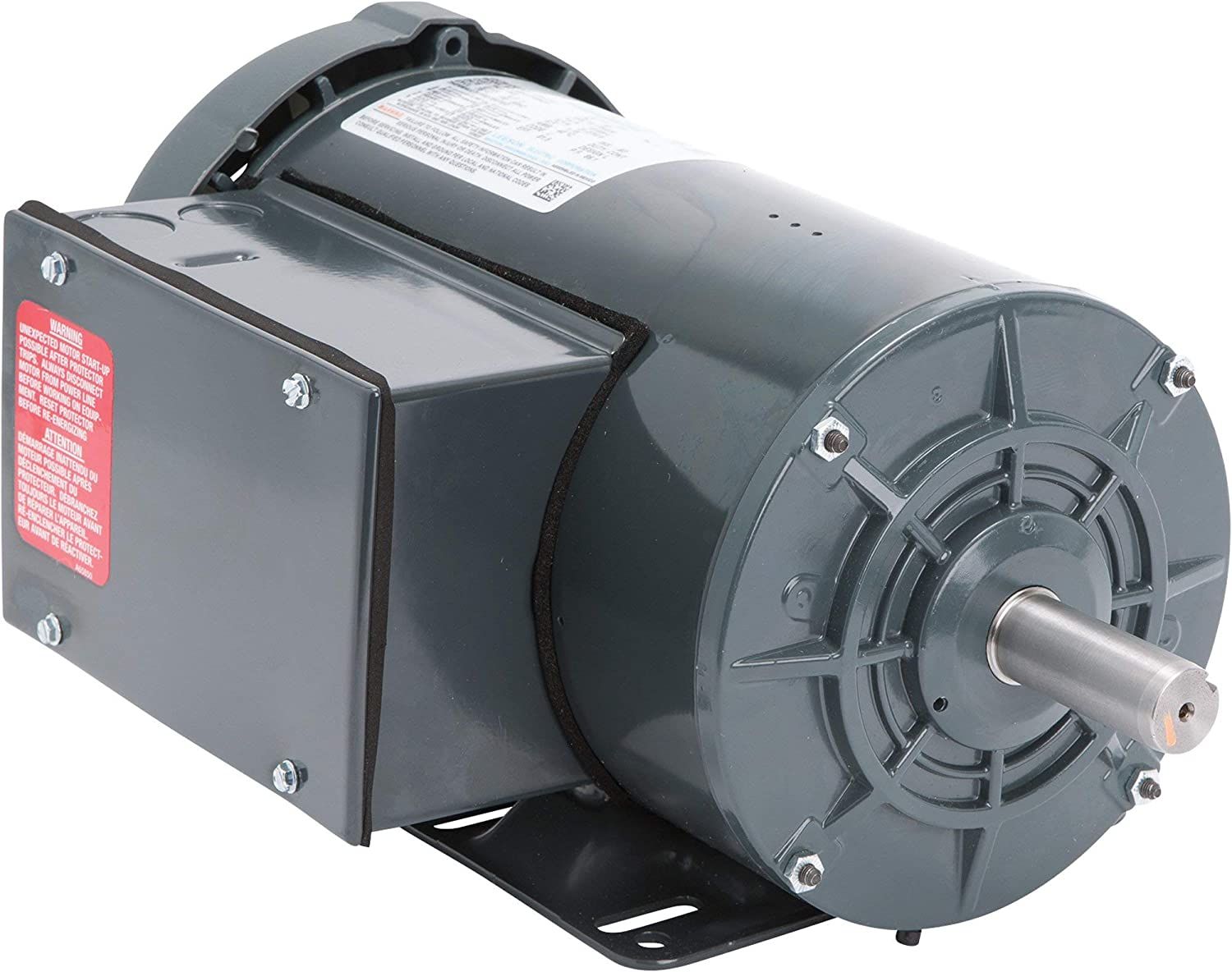 1,725 RPM Model Number M6K17FB4 Leeson Farm Duty Electric Motor 230 Volts Single Phase 2 HP