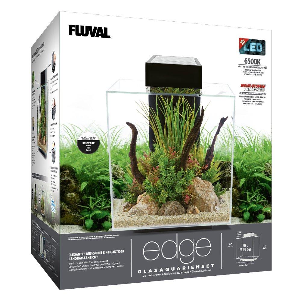 Fluval 15038 Edge 2.0 46L Acuario Set, Negro: Amazon.es: Productos para mascotas