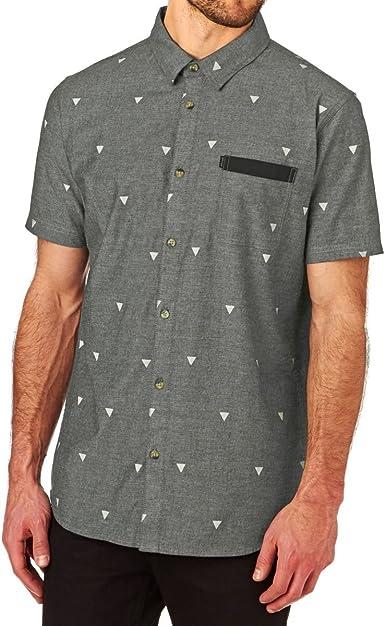 RIP CURL Mysto S/S Camisa para Hombre, Camiseta, Color Negro ...