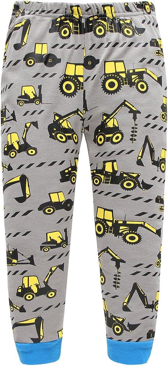 Escavatori Bulldozer Cartoon Sleepwear Dizonny Ragazzi Camion Pigiama Set Cotone