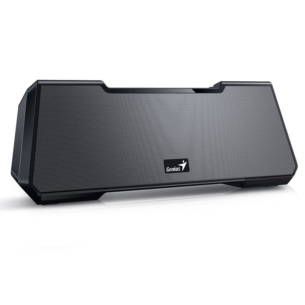 Genius Mobile Theater MT-20, Portable & Wireless SoundBar Designed Bluetooth Speaker. Cinema-Like Stereo Surround Sound, Deep Heavy Bass, 10 Hours of Playtime for Smartphones & Tablets - Black