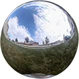 Lily's Home® Gazing Globe Mirror Ball in Silver Stainless Steel. (8 Inch)