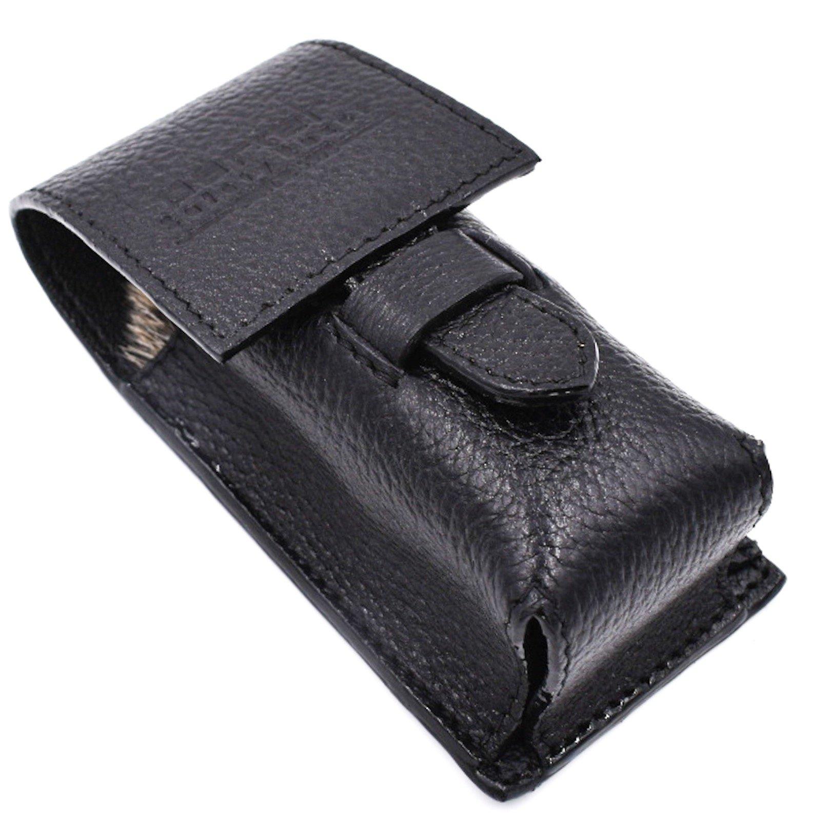Genuine Leather Shaving Brush Protective/Travel Case