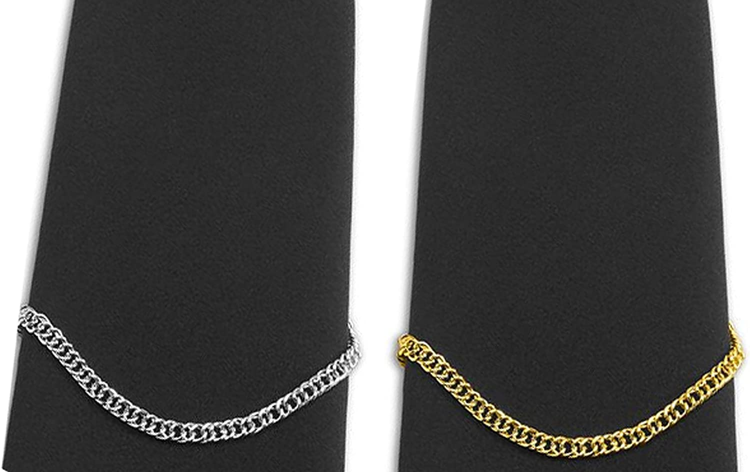 Mens Tie Chain Fashion Necktie Link Noble Necktie Chains for Business Wedding Pack of 3