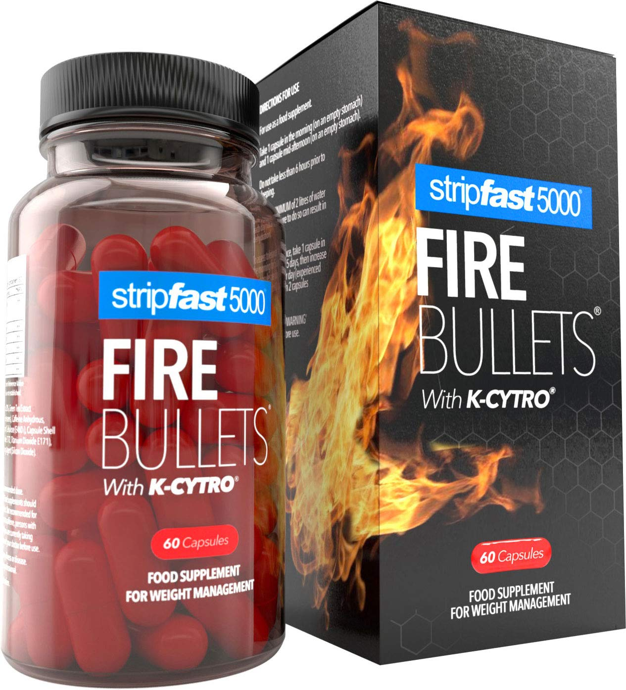 Weight Loss Fat Burner Diet Pills Fire Bullets K Cytro For Women Men Ultra Strong