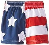 Kanu Surf Boys' Baby American Flag Swim Trunk, 18