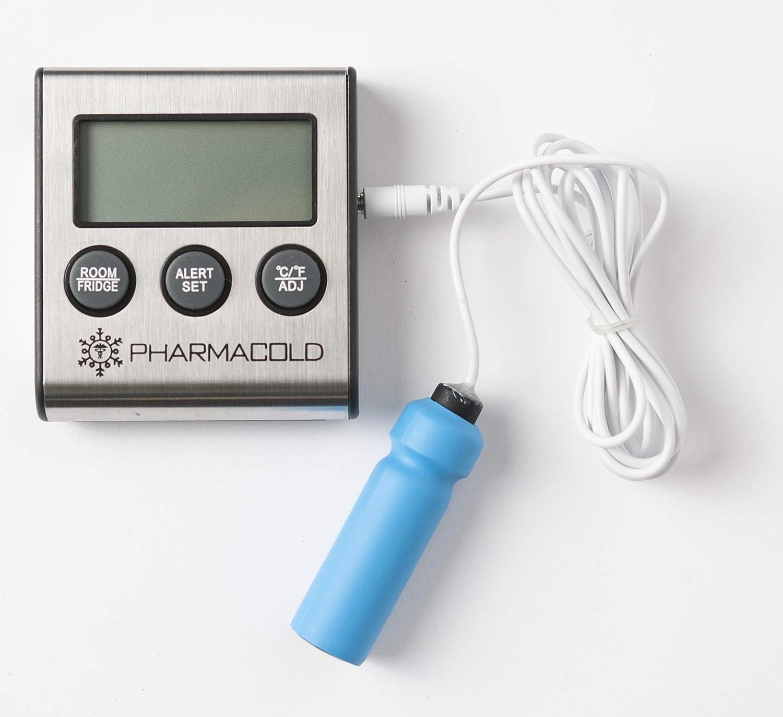 Termómetro de glicol con alarma para laboratorio, médicos, vacunas ...
