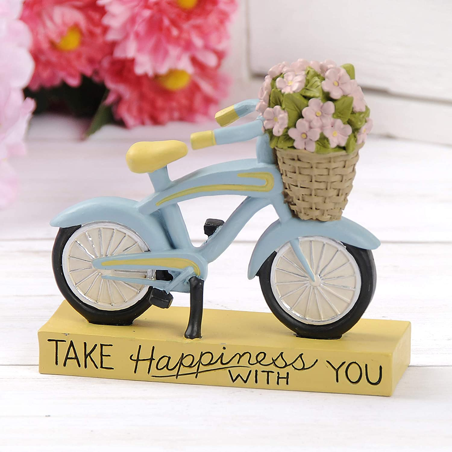 Blossom Bucket 191-12213 TAKE Happiness with You Bike, Multi-Colored