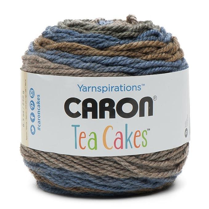 240g Ball Caron Tea Cakes Soft Chunky Acrylic Wool Blend Yarn GREEN TEA