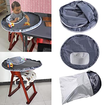 Amazon.com : Voberry High Chair Splat Mat, Baby Dinner Mat Cover Waterproof Highchair Bumper Pad Place Mat (Gray) : Baby