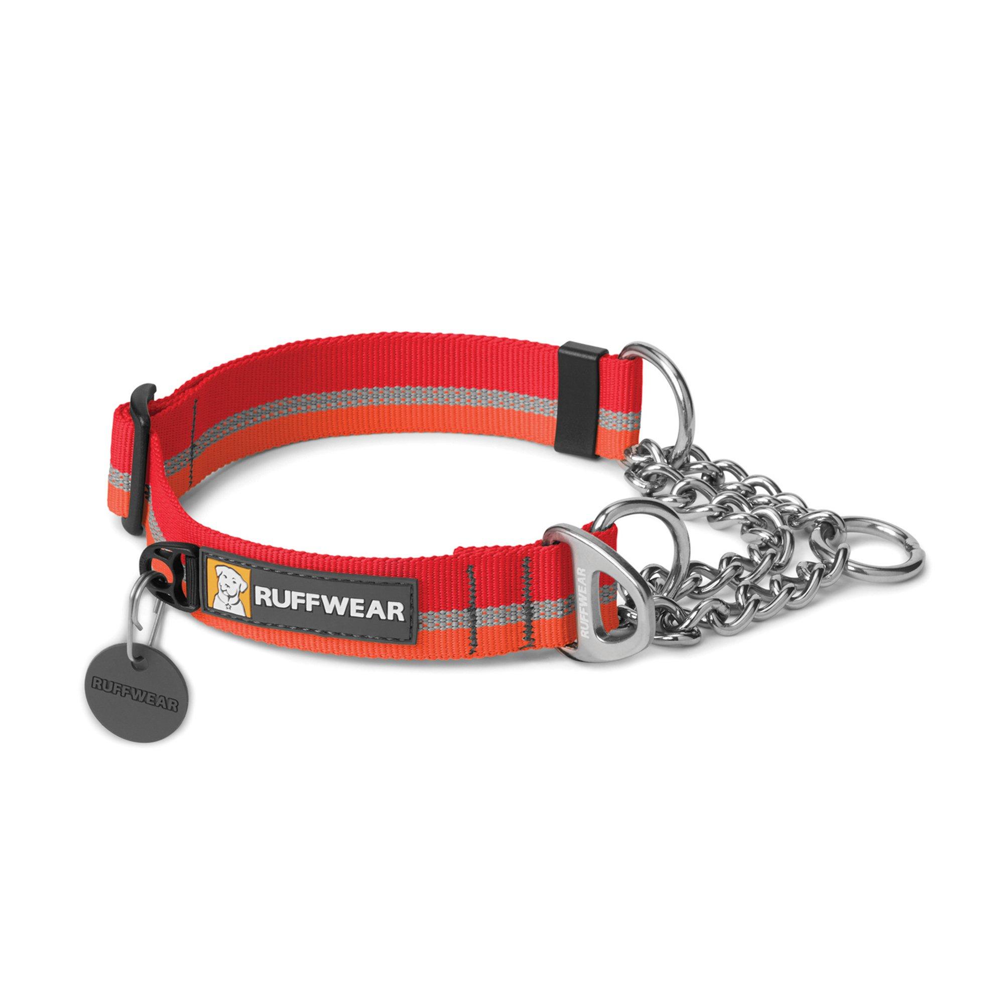 RUFFWEAR - Chain Reaction Limited Cinch, Audible Correction Collar, Kokanee Red, Medium