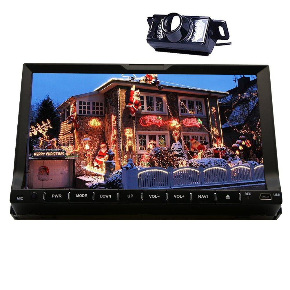 Cámara del revés + Eincar 7 Pulgadas 2 DIN Bluetooth Autoradio en Dash de navegación GPS estéreo Moniceiver FM/Am / sintonizador de Radio RDS con Pantalla ...