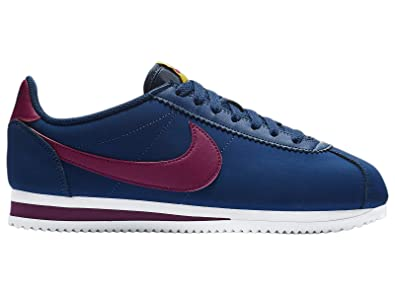 quality design e8b5c 6bca8 Nike WMNS Classic Cortez Leather, Chaussures de Running Femme, Multicolore  (Blue Void