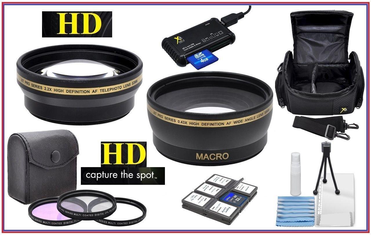 Super Saving Hi Def Accessory Pack for Canon EOS Rebel T7i SL2 77D (58mm Compatible)