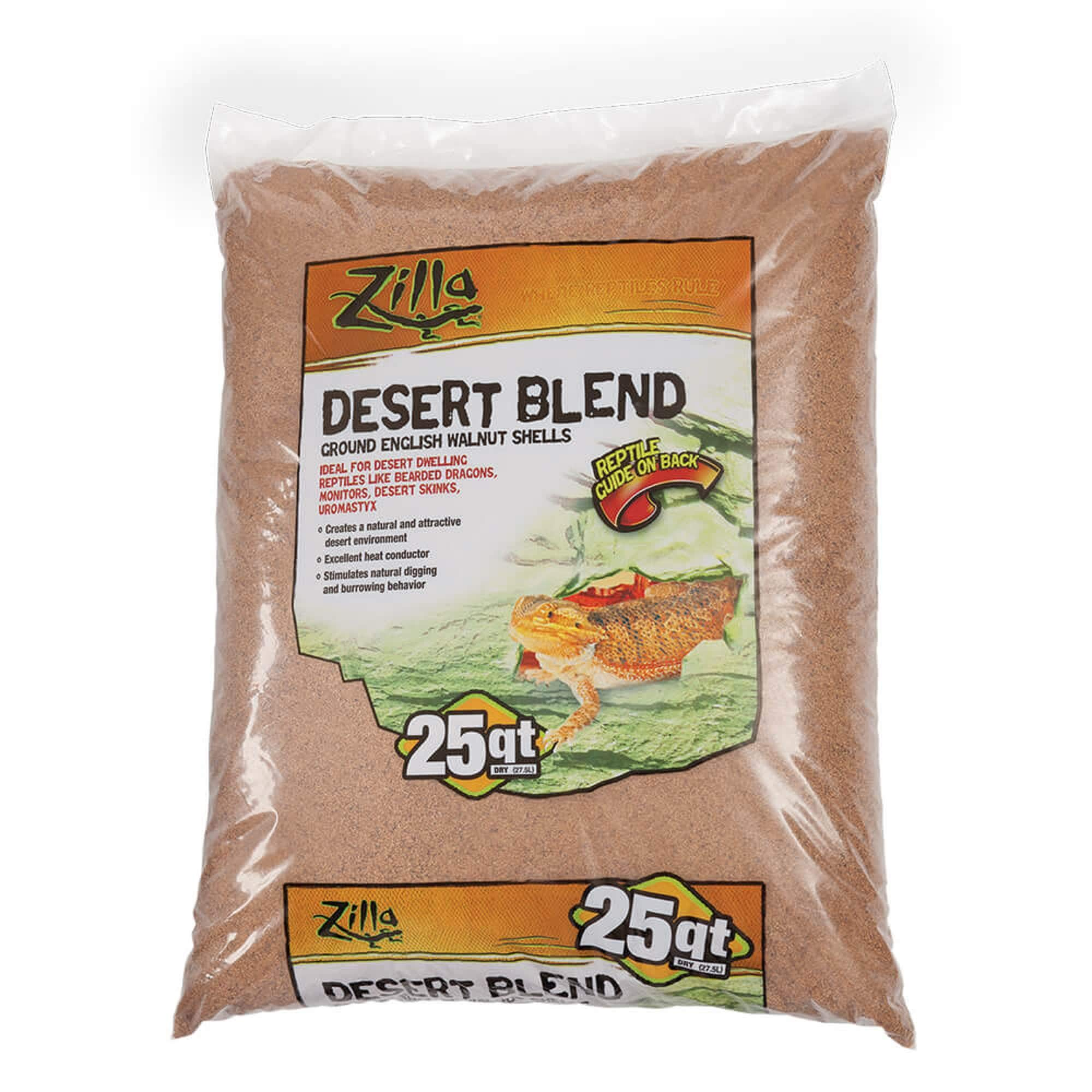Zilla Ground English Walnut Shells Desert Blend
