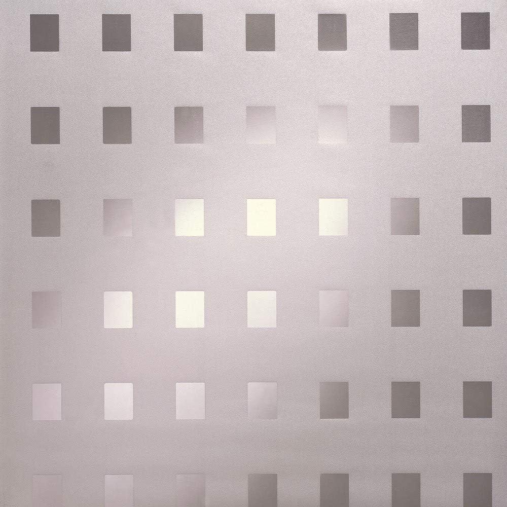 FANCY-FIX Film Vitre Fen/être Statique Anti-UV Vitrage D/époli Adh/érence en Vinyle Effet Verre Mate Anti Regard Opaque Electrostatique D/écoration Maison Bureau 40 x150cm