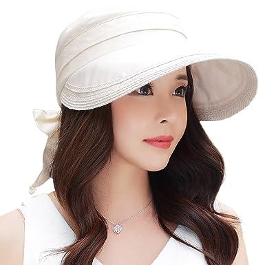 a21bbfcea3821 Siggi Womens Wide Brim Visor Cap Packable 100%Linen Summer Sun Hats UPF50  Vent Free Size Beige  Amazon.co.uk  Clothing