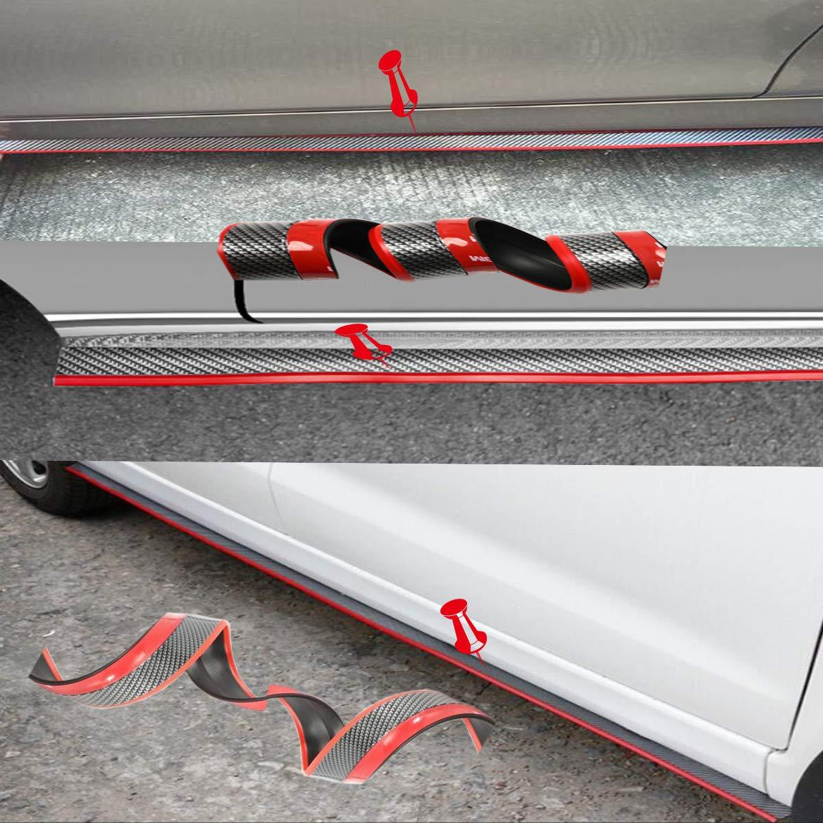 Car Side Skirts Front Bumper Lip Spoiler Side Skirts Universal Car Lips Spoiler