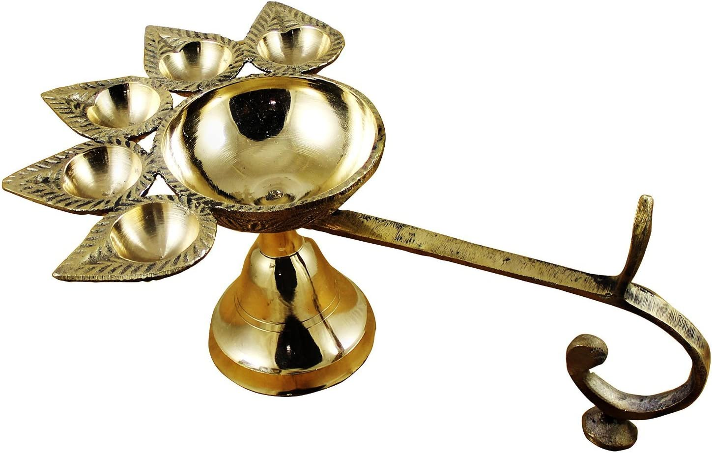 RoyaltyLane Indian Brass Oil Lamp Panch