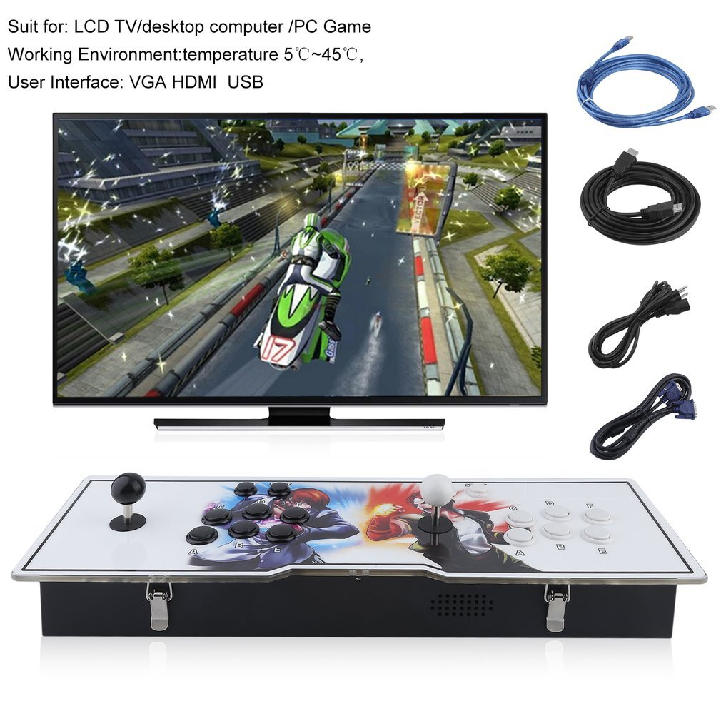 GiODLCE Classic 800 in 1 Video Arcade Games Console, Home TV Double Stick Arcade Console Fight Games Gamepad Machine w/VGA HDMI USB Connector for TV Monitor VGA HDMI Output (800 in 1) by GiODLCE (Image #2)