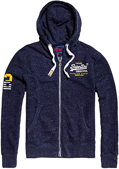 Superdry Premium Goods Sweat Zip Homme Bleu Taille M: Amazon