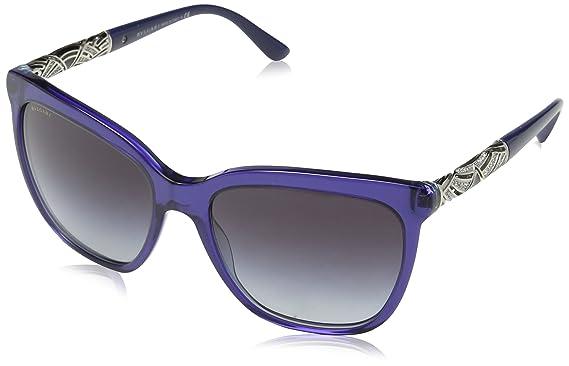 76dee24c065b Bulgari 0BV8173B 53998G 56, Montures de Lunettes Femme, Bleu  (Bluette Striped Violet
