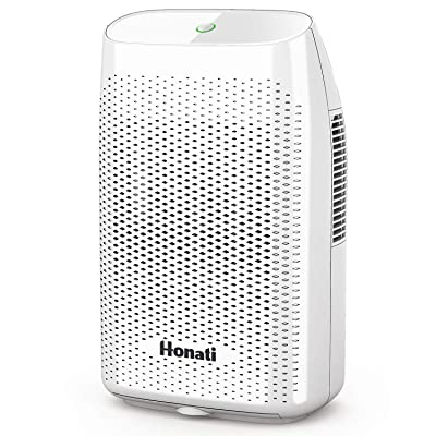 .com - Honati Home Dehumidifier, 2000ml Ultra Quiet Small Portable Dehumidifiers with Auto Shut Off for Basement, Bedroom, Bathroom, Baby Room, RV and Office (Up To 269 Sq.Ft) -