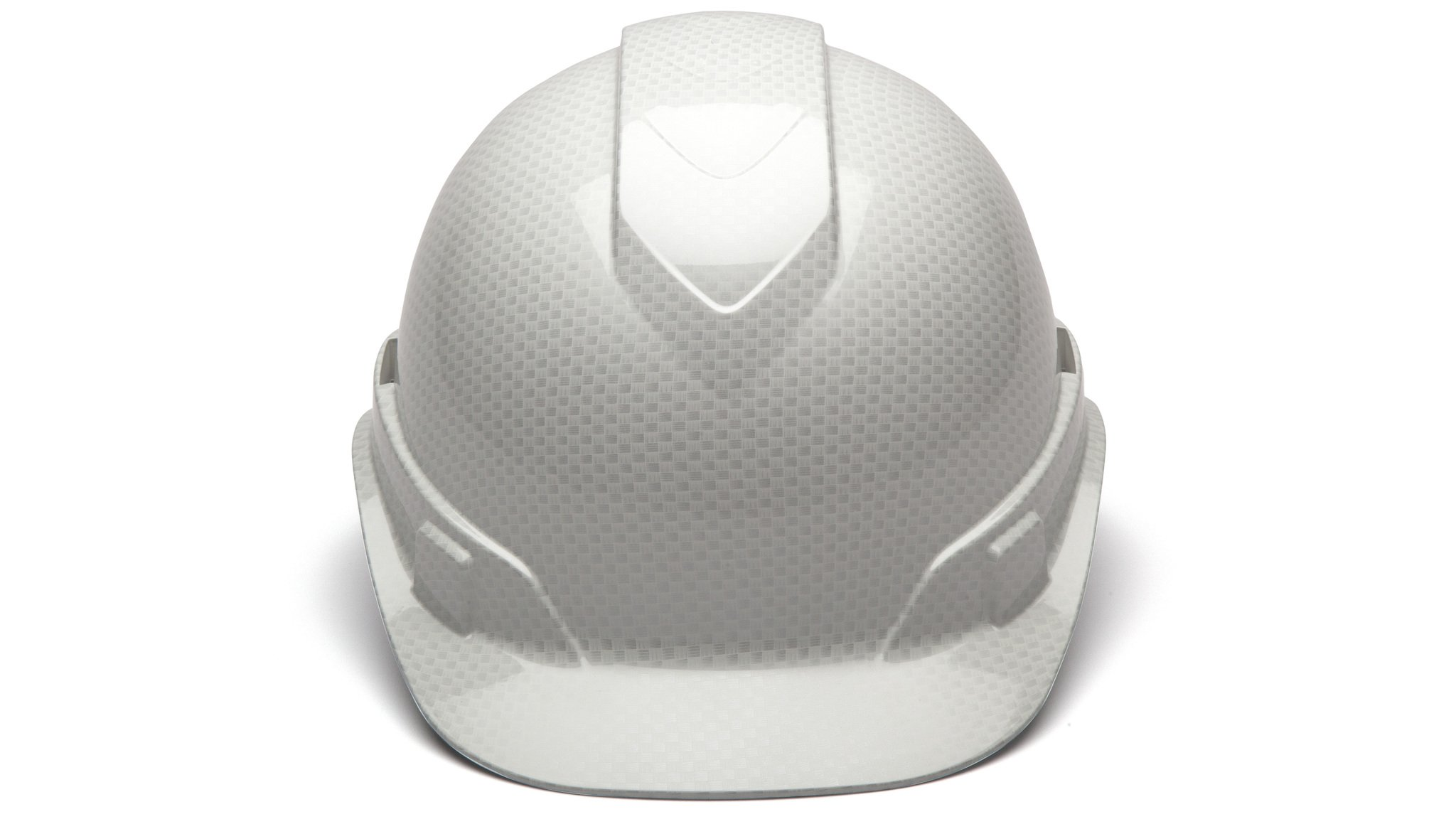 Cap Style Hard Hat, Adjustable Ratchet 4 Pt Suspension, Durable Protection safety helmet, White Shiny Graphite Pattern Design, by Tuff America by Pyramex (Image #4)