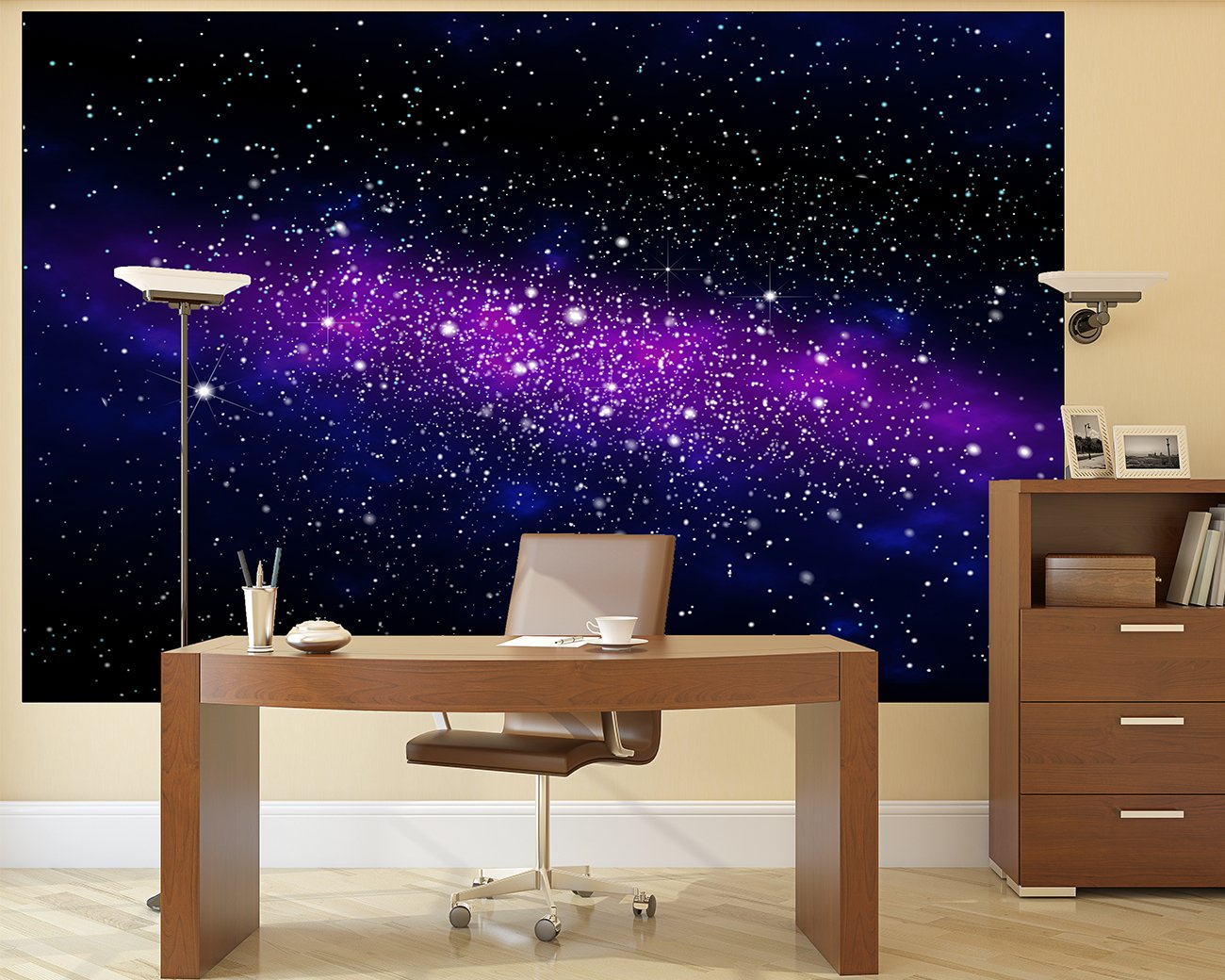 Outer Space Bedroom Wallpaper Stars Wall Picture Decoration Childrens Room Outer