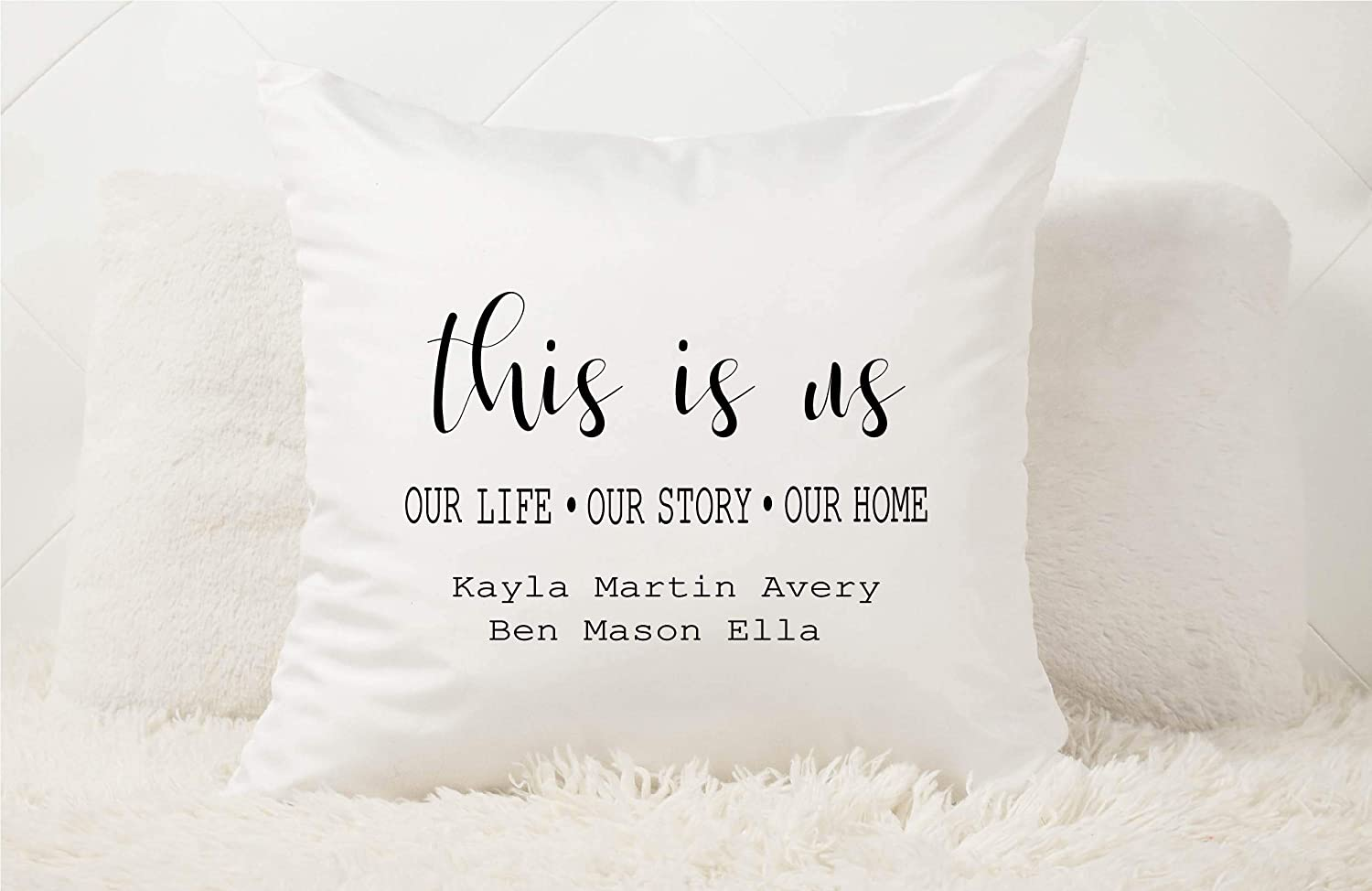 Many Colors Nana Personalized Decorative Pillow Case Gift for Grandma