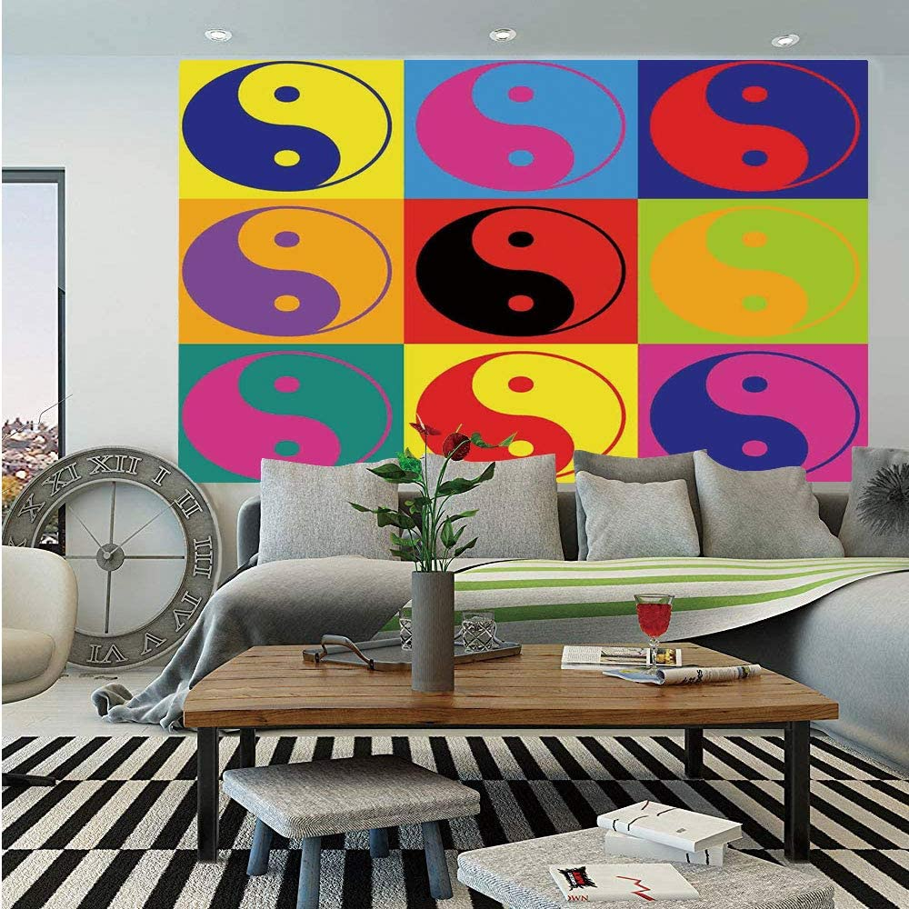 Amazon Com Sosung Ying Yang Wall Mural Pop Art Design Yin Yang