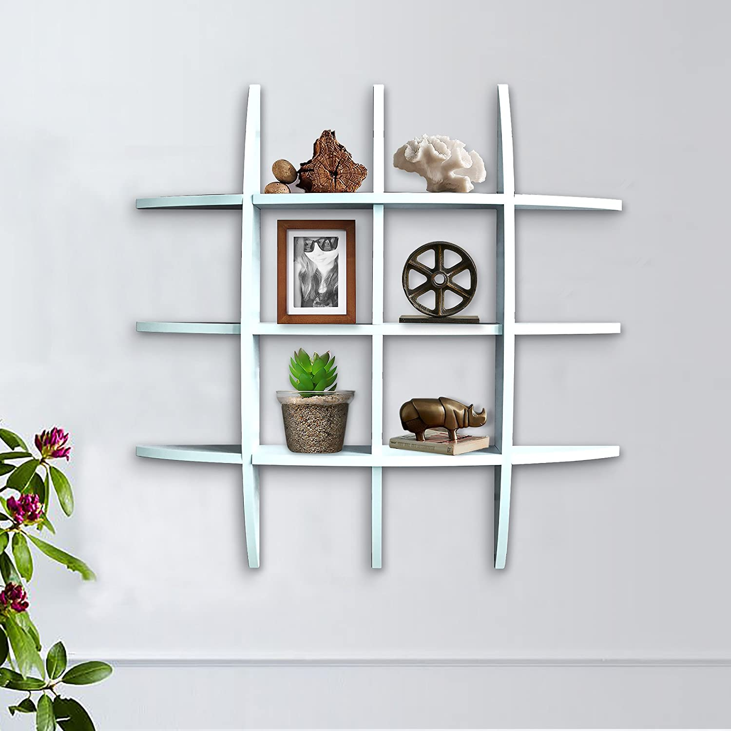 Metal wall cool shelves new shelves bookcase for Cool shelf ornaments