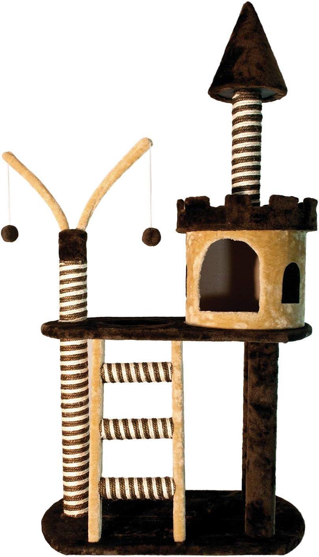 Arquivet 8435117841185 - Rascador Castillo Marron/Beige 70 x 40 x ...