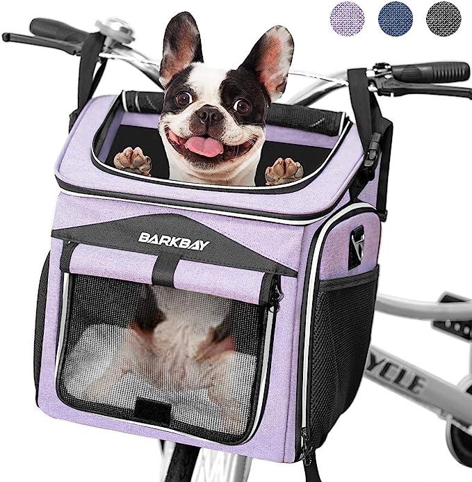 Bicycle Front Basket Collapsible Bike Handlebar Basket Pet Cat Dog Carrier J7D5